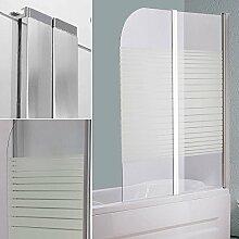 Melko® Duschabtrennung Badewannenaufsatz aus 5 mm