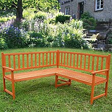 Melko Eckbank Gartenbank Sitzbank, aus Holz, 149 x