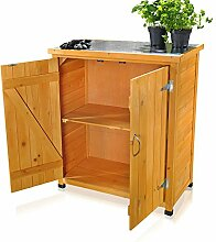 Melko ® Gartenschrank/Geräteschrank mit 2 Türen