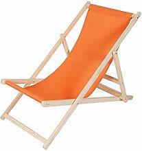 Melko Liegestuhl klappbar Strandstuhl aus Holz
