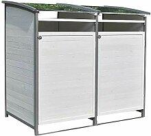 Melko Mülltonnenbox 240 Liter aus Holz