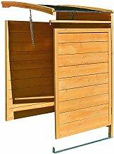 Melko Mülltonnenbox Anbaubox 120 Liter aus Holz