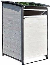 Melko Mülltonnenbox Einzelbox 120 Liter aus Holz