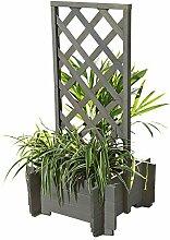 Melko® Pflanzkübel Blumenkübel Rankhilfe