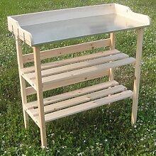 Melko® Pflanztisch / Gärtnertisch / Kräutertisch aus Fichtenholz, 84 x 78 x 38 cm, Holztisch