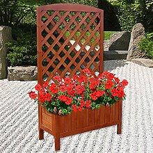 Melko Rankgitter Rankkasten mit Blumenkasten aus