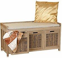 Melko® Sitzbank-Kommode mit Stauraum 3