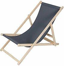 Melko Strandstuhl aus Holz Holzliegestuhl klappbar