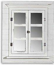 Melko Wandspiegel mit Fensterladen und Ablage,