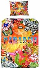 Melli Mello orangen bettwäsche Exotic mit Blumen