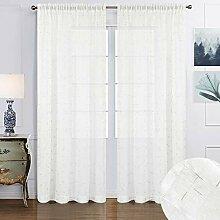 Melodieux Gardinen für Wohnzimmer, Schlafzimmer,