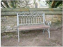 Melody Maison Gartenbank aus Metall und Holz,