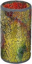 Melrose Flammenlose LED-Kerze, Mosaik-Design, 7,6