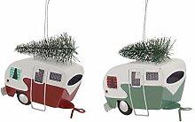 Melrose Weihnachtsdeko Wohnmobil mit Baumschmuck,