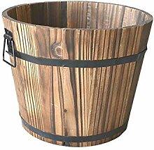 Meltset Pflanzgefäß aus Holz, rustikale