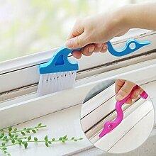 Melumber Fensterschlitze Bürste Fenster Reinigungsbürste Tastatur Reinigungsbürste,Blau