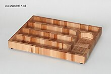 Memi me704Besteckkasten, Holz, Braun