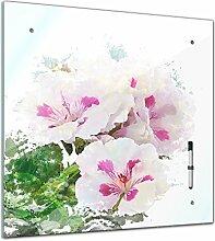 Memoboard 40 x 40 cm, Aquarelle - Hibiskus -