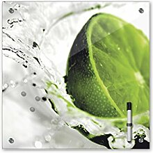 Memoboard 40 x 40 cm, Essen & Trinken - Limette -