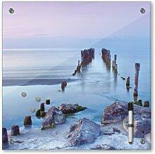Memoboard 40 x 40 cm, Landschaft - Alter Steg -
