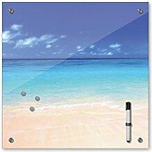Memoboard 40 x 40 cm, Landschaft - Bahamas -