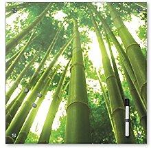 Memoboard 40 x 40 cm, Pflanzen - Bambus mit