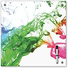 Memoboard 40 x 40 cm - Relaxing Farben - Glasboard