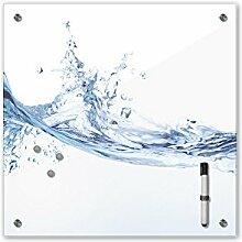 Memoboard 40 x 40 cm - Relaxing Wasser - Glasboard