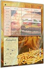 Memoboard 40 x 60 cm, Planer - Burger und Pommes -