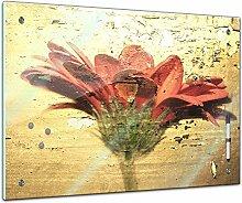 Memoboard 60 x 40 cm, Pflanzen - Blume Grunge -