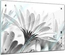 Memoboard 60 x 40 cm, Pflanzen - Blume schwarz /