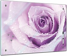 Memoboard 60 x 40 cm, Pflanzen - lila Rose mit