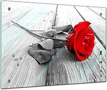 Memoboard 60 x 40 cm, Pflanzen - Rose Steg -