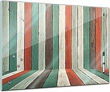 Memoboard 60 x 40 cm, Textur - Textur buntes Holz