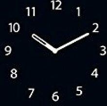 Memoboard mit Uhr, beschriftbar, 30x80cm von Eurographics, Schwarz