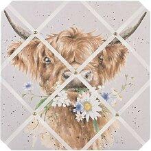 Memoboard, Pinnwand DAISY COO COW Kuh 40x40cm