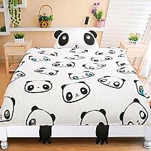 memorecool Bett für 3D Panda Design Kids Bettwäsche-Set, schwarz und weiß Panda Bettbezug Set, Geburtstag/Weihnachten Geschenke für Kinder, 3-teilig, Polyester, fitted sheet, Twin