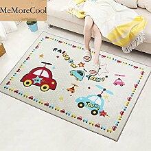 memorecool Bett für Cartoon Bear/Katzen/Auto Design Kids Schlafzimmer Teppiche, Baby kriechen Teppich, weiche Krabbeldecke mit rutschhemmenden Unterseite, 132,1cm W x 190,5cm L stil 4