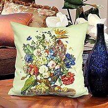memorecool Haustierhaus Blumen Kissen Bezug hochwertige samtig–Ölgemälde Stil auf beiden Seiten schmücken Sofa No Filler 40,6x 40,6cm, flower29, 16x16inch