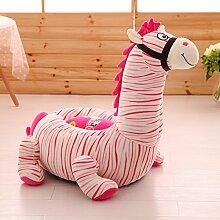 """memorecool Haustierhaus Kids Cartoon Sofa Spielzeug Plüsch Sessel, gelb Löwe für Jungen und Mädchen, perfekte Geschenke für Kinder auf Weihnachten/Geburtstag/Tag der Kinder, baumwolle, pink zebra, 20""""L*20""""W*20""""H"""