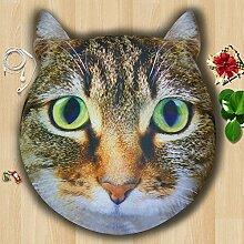 memorecool Haustierhaus Top Grade Cute Cartoon Hund/Katze Nackenrolle dicker, 3D Schlafzimmer Sofa Matratze, Creative Festival Geschenk für Familien und Freunde, Polyester, Stil 8, 55 inch by 12 inch