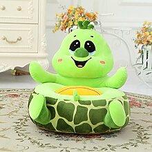 """memorecool Kindersofa in besonderen Formen, gelbe Ente Kinder, Plüsch Cartoon Sofa, Baby/Kinderstuhl, Weihnachtsgeschenk, Geburtstagsgeschenk., baumwolle, Grün (Green Turtle), 16""""L*10""""W*18""""H"""