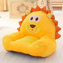 """MeMoreCool, Kindersofa/Kindersessel, Cartoon-Löwen-Design, für Jungen und Mädchen, baumwolle, yellow lion, 22""""L*16""""W*20""""H"""