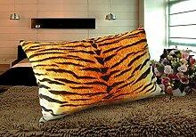 memorecool Rechteck Noble Tiger Pattern Tasche Luxus Kissen Büro Sofa-Samt weich Decke Kissenbezug, modernes Design 58cm by 70cm