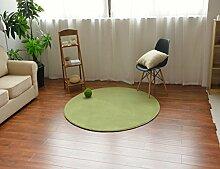 MeMoreCool Teppich, rund, modern, einfaches Design, Korallen-Samt, für Sofa, Wohnzimmer, Fußmatte, Schlafzimmer, Matte, 99,1cm, Polyester, grün, 59 inch