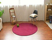 MeMoreCool Teppich, rund, modern, einfaches Design, Korallen-Samt, für Sofa, Wohnzimmer, Fußmatte, Schlafzimmer, Matte, 99,1cm, Polyester, rot, 59 inch