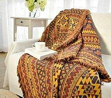 memorecool von hohe Qualität Rückseite aus Baumwolle Slipcover Herbst und Winter Baumwolle Dick rutschfest Rückenlehne Sofa Handtuch Decke 90*210cm braun