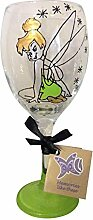 Memories Like These Weinglas, handbemalt mit einem Feen-Motiv