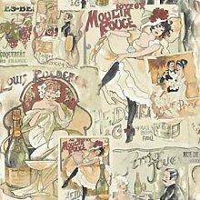 Memories Nostalgie Retro Vlies Tapeten Moulin Rouge G56113