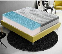 Memory foam Matratze 140x200 mit 9 verschiedenen